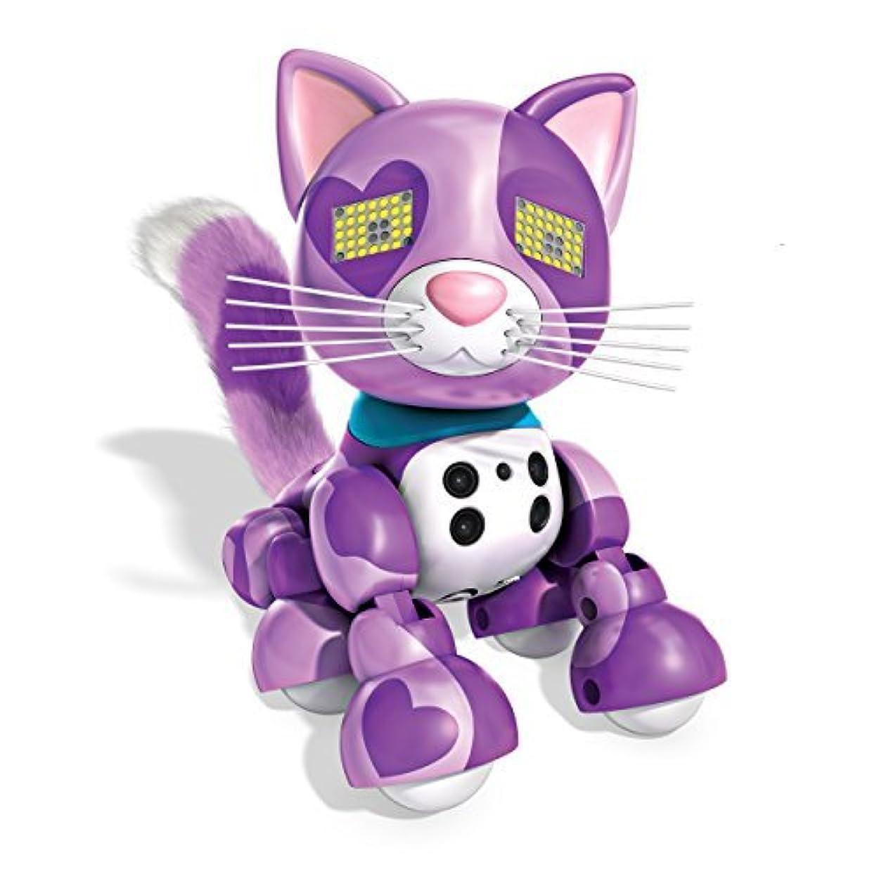 代替案魚Zoomer Meowzies, Viola, Interactive Kitten with Lights, Sounds and Sensors, by Spin Master [並行輸入品]