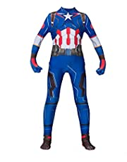 Captain America Kostuums The Avengers Superhero Bodysuit Jumpsuit Volwassenen Kinderen Lycra Spandex Zentai Halloween Fancy Dress Pak,Captain America-Adult XL(175~185cm)