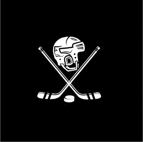 Fahrzeug-Autoaufkleber Auto Styling Persönlichkeit Eishockey Helm Vinyl Lustige Auto Aufkleber 15,2 cm * 15,8 cm 2 Stück