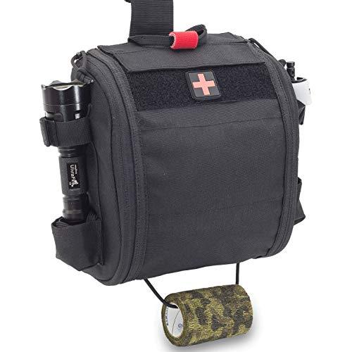 Elite Bags - QUICKAID´S, Botiquín Paramédico Pernera con Sistema Molle (Negro)