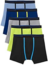 Fruit of the Loom Big Underwear Breathable Boxer Briefs (Boy & Toddler Boy), 5 Pack-Micro Mesh, Large
