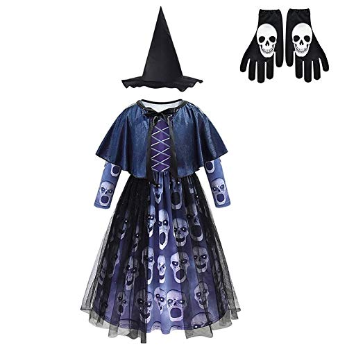 LXJ Halloween, Halloween, Party-Requisiten, Dekorationen, Horror Hexen-Kleid, Gruselskelett, Hexenkostüme, Kinder, Halloween-Kostüme für Kinder, Dämon Purim Halloween-Kleidung, Plastik, Multi, 120