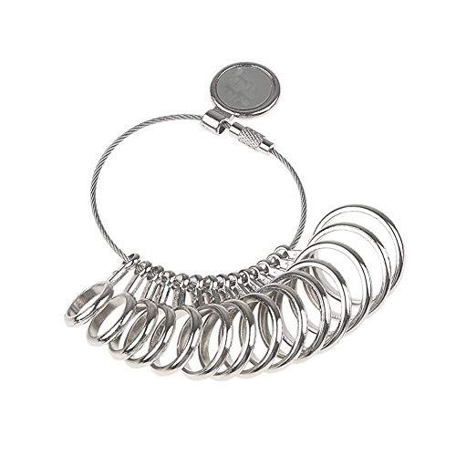 Buty Ring Sizer Set Metalldorn Spur Finger Größe 1-13 Messen Ringe Sizing-messwerkzeug Silber