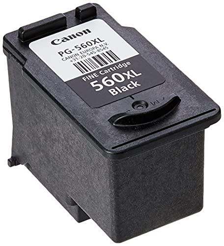 Canon PG-560XL Cartucho de tinta original Negro XL para impresoras de inyección de tinta Pixma TS5350-TS5351-TS5352-TS5353-TS7450-TS7451
