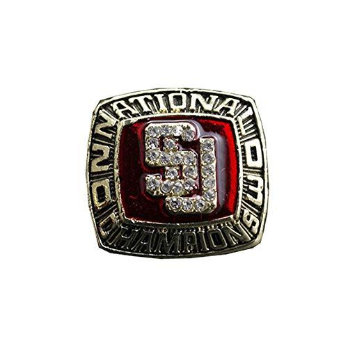 NCAA 2003 Syracuse University Football Championship Ring Super Bowl Anello di Campionato per i Fan Gift Collection di visualizzazione Uomo Keepsake,Without Box,11
