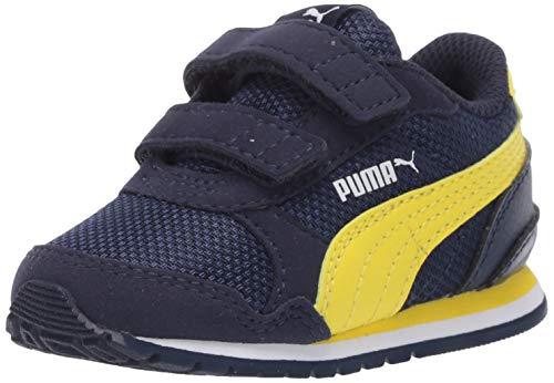PUMA Baby ST Runner Velcro Sneaker, Peacoat-Meadowlark White, 5 M US Toddler