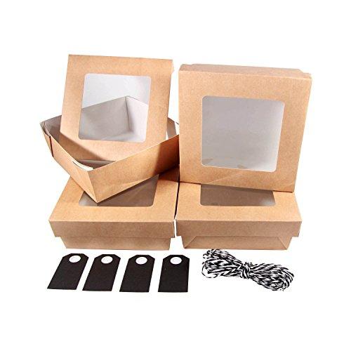 BODA Schachtel Set Window - inkl. schwarze Geschenkanhänger, 9-tlg.