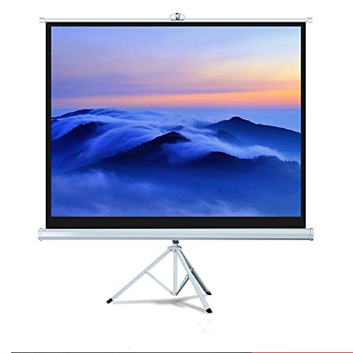 Yuehjnba Projection Screen Projector Screen - Indoor Movies Screen for Movie Presentation - 4:3 HD Premium Tripod Screen Best Outdoor Movie Screen (Color : White, Size : 72inch)