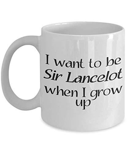 N\A Taza Sir Lancelot - Idea de Regalo para los fanáticos del Rey Arturo, Camelot, la Mesa Redonda y Todas Las Cosas caballerescas y caballerescas - Taza de café y té
