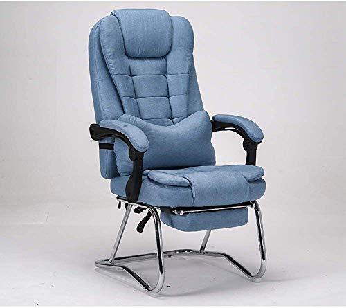 Rollsnownow Computer Bürostuhl Schreibtisch aus Leder Gaming-Stuhl, hohe Rückenlehne Ergonomische Einstellbare Racing-Stuhl, Aufgaben Swivel Executive-Computer Stuhl Kopfstütze und Rückenstütze sessel