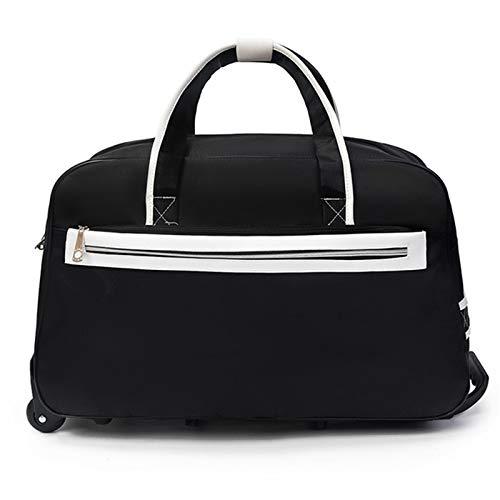 Bolso de la lona del tote del viaje Carry On Bag Bolsa de equipaje de tela Oxford Hombres y mujeres Viaje corta distancia Portátil Bolsa de viaje Bolsa de trolley gran capacidad Bolsa de la Noche de W