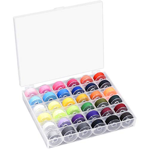 36 piezas Hilos de Coser de Poliéster para Costura Bobinas Surtidas hilo de coser colorido bobinas para máquina de coser para Babylock/Janome/Elna/Singer