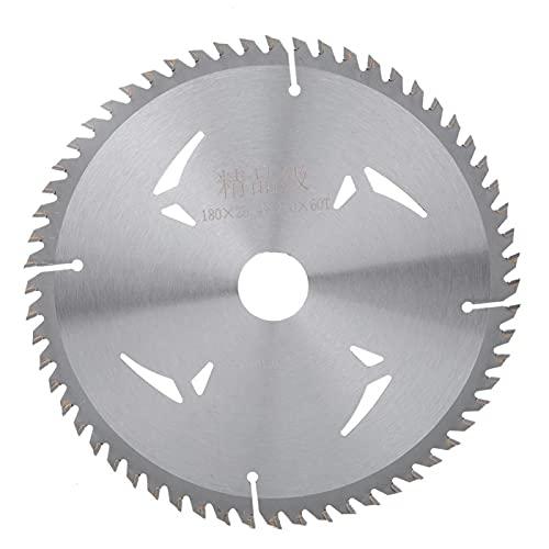 LANTRO JS - 7-tums cirkelsågblad, legeringscirkelsågblad 180 mm x 60 tänder x 25,4 mm för skärning av trä