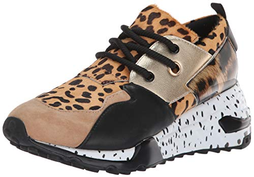 Steve Madden Women's Cliff Sneaker, Animal, 9 M US