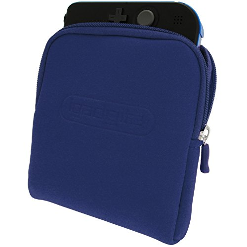 iGadgitz U2707 - Neoprene Custodia Case Compatibile con Nintendo 2DS - Blu