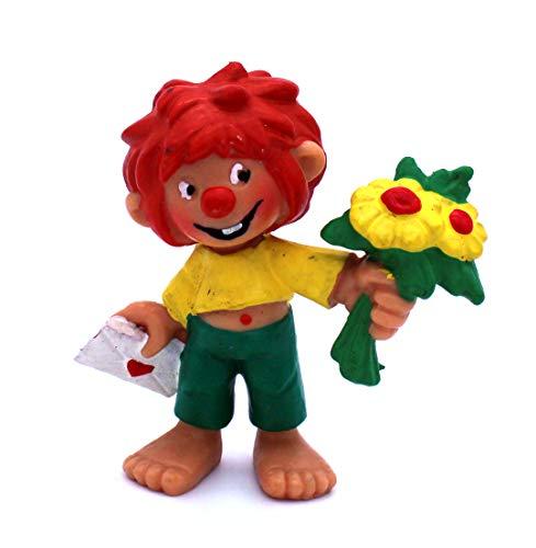 Pumuckl Kunststoff Figur mit Brief und Blumen in der Hand von Bully