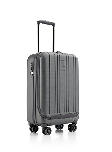 Hedgren Boarding S Hardside Spinner 4 Wheel Suitcase, Rolling Luggage with Lock, 20 Inch, Unisex, Tornado Grey