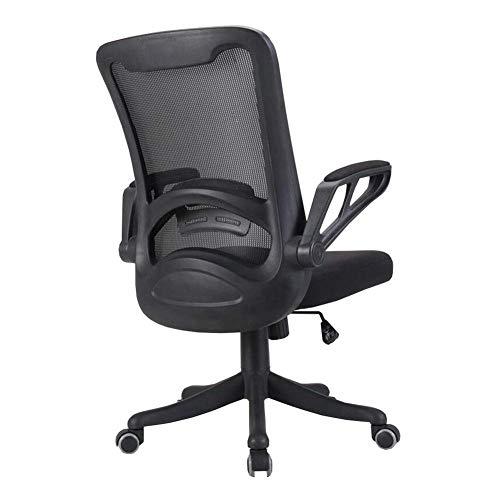 DALIBAI Bürostuhl zurück Mesh Fabric Executive-Computer-Schreibtisch-Stuhl - Lordosenstütze Flip-up-Arme, Dicke Polsterung for Komfort Höhenverstellbarer Durable stark (Color : B)