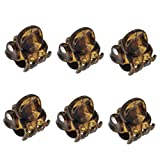 Camila Paris AD115/6 French Hair Clips for Women, Set of 6 Extra Small Girls Hair Claw Clips Jaw Fashion Durable Styling Hair Accessories for Women, Strong Hold No Slip Grip, Made in France