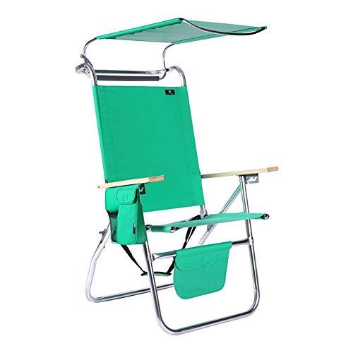 KILLM 17 Zoll Hohe Sitz Big Tycoon Aluminium Beach Chair Mit Baldachin,B