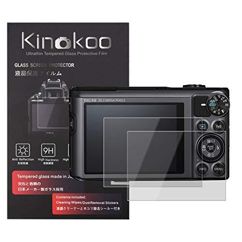kinokoo Película de Vidrio Templado para Canon PowerShot SX720 HS/SX710 HS/SX620 HS/SX610 HS Crystal Clear Film Protector de Pantalla Canon SX720 sin Burbujas/antiarañazos (Paquete de 2)