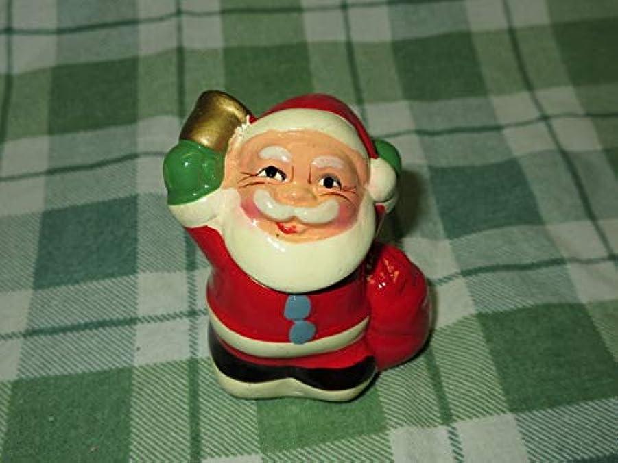 里親じゃがいもトマト中国 レトロ 上海製 長城印 石膏 サンタクロース 鉛筆削り 約5cm クリスマス X'mas サンタ 当時物 デッドストック