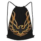 Trans Am Firebird Drawstring Backpack Rope Bag Sports Gym Bag, Men, Women