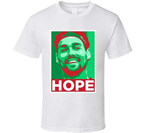ASDFGB Fabio Fognini Hope Italia Tennis Star Fan T Shirt Bianco Beige L