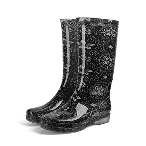 De las mujeres a prueba de agua Imprimir lluvia botas de moda...