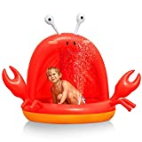 Gonioa Inflatable Baby Pool,Baby Shade Beach Kiddie Pool,Crab Splash Toddlers Swimming Pool with Canopy,Fun SummerIndoor&Outdoor Water Game Play Centerfor Kids Toddlers Boys Girls