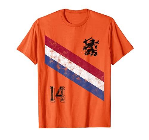 Maglia Storica Calcio Olanda 14 Holland Dutch Lion Maglietta