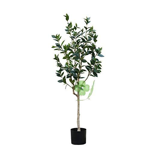 BAACHANG Simulación Laurel osmanthus Hoja árbol Felicidad eucalipto Sala de Estar Interior Dormitorio Piso Planta Verde en Maceta Paisaje decoración péndulo (Color : Laurel, Size : 1.5m)