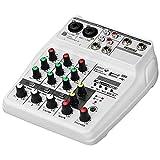 ZLDGYG SMDMM Tarjeta de Sonido Mezcla Consola Digital 4 Canales Bluetooth O Mizadora Inputación USB 48V Potencia for grabación de música