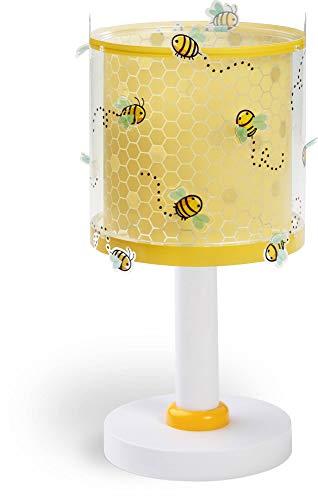 Dalber 71091 A++ to C, Bee Happy Biene Tischlampe, Plastik, E27, Mehrfarbig, 15 x 15 x 30 cm