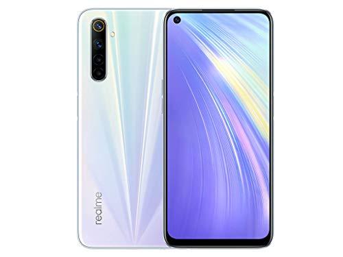 realme 6 Smartphone, 8 GB + 128 GB, Fotocamera AL QUAD da 64 MP, Display Ultra Fluido a 90 Hz da 16.5 cm, Processore Helio G90T, Bianco (Comet White)