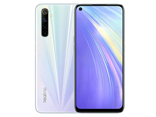 realme 6 Smartphone 8GB+128GB, Fotocamera AI da 64MP, Display Ultra Fluido a 90Hz da 16.5 cm, Processore Helio G90T, Bianco (Comet White)