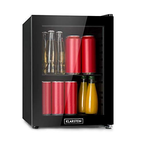 KLARSTEIN Harlem Minibar Mininevera - refrigeración por compresión, 23 LTS, 5 Niveles de refrigeración: 0-10 °C, Clase de eficiencia energética A+, bajo Nivel de Ruido: 39 dB, Negro
