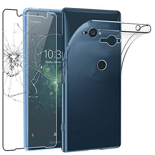 ebestStar - kompatibel mit Sony Xperia XZ2 Compact Hülle Handyhülle [Ultra Dünn], Durchsichtige Klar Flex Silikon Schutzhülle, Transparent + Panzerglas Schutzfolie [Phone: 135 x 65 x 12.1mm, 5.0'']