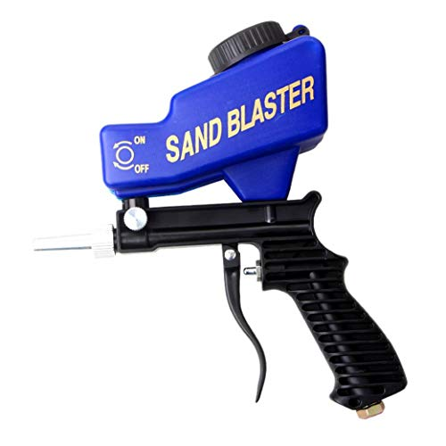Yililay Portable Sand Blaster, Abrasive Air Sand Blaster Handheld Gun Remove Paint Stain Rust Grime Pool Cleaning Blasting Tool for All Blasting Projects.