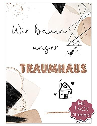 JoliCoon 40 Meilensteinkarten Hausbau - Hausbau Tagebuch für Erinnerungen