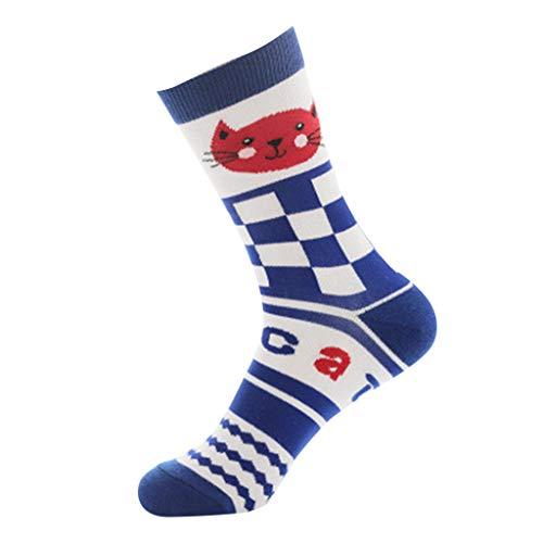 Socks MISYAA Cozy Cheap Fashion Naughty Cats Patterned Sleeping Crew Socks Stockings Gift (BU)