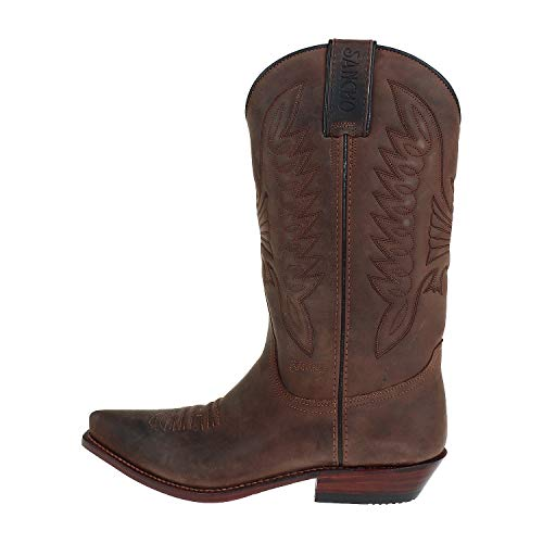 Sancho Boots Herrenschuhe Cowboystiefel Castano Box Crazy Braun BW5559 (Numeric_39)