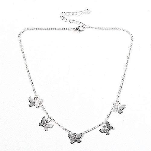 AOAOTOTQ Co.,ltd Collar Lindo Gargantilla de Mariposa para Mujer Collar de Cadena de Oro para Mujer Bohemia Brillante joyería Gargantilla Collar Regalo
