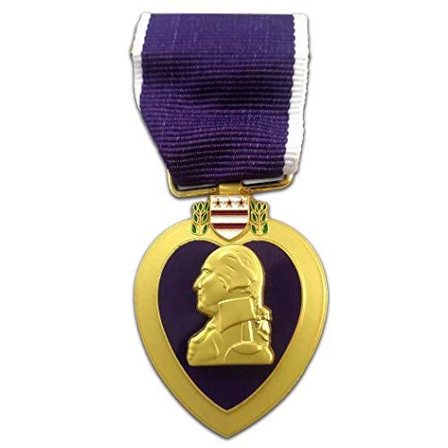 Kocreat Medalla Militar de Honor Púrpura Corazón-WW2 USA URSS Militar Badge Medalla Colección Orden de la Guerra Patriótica Award Lapel Pins réplica