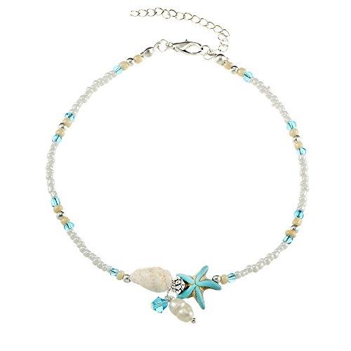 RUBOBUC Boheemse stijl handgemaakte schelp kralen ketting retro verstelbare enkelband strand accessoires meisjes sieraden
