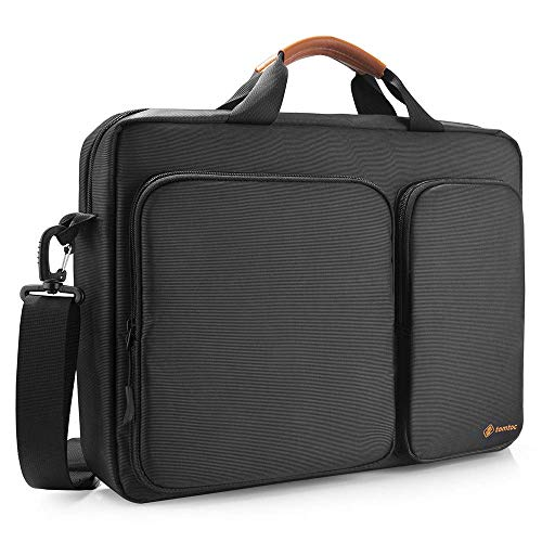 tomtoc Borsa per laptop borsa a tracolla 15 / 15,6 / 16 pollici Lenovo ThinkPad / Acer Aspire / HP notebook borsa per laptop borsa per notebook business valigetta donna e uomo, Nero