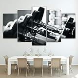 EXQART 5 Leinwandbilder Wandkunst Bilder Wohnkultur Moderne HD Gedruckt 5 Stücke Hanteln...