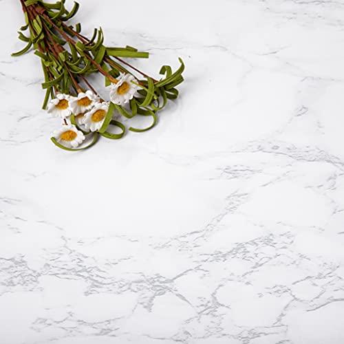 Niviy Vinilo Adhesivo 30x200cm Vinilos Para Muebles pegatinas pared decorativas Proteja los Muebles Renovados Resistente Al Desgaste (Mate Gris Blanco)