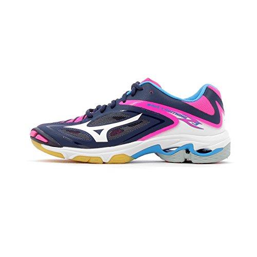 Mizuno Wave Lightning Z3 W, Zapatos de Voleibol para Mujer, Multicolor (Peacoat/White/Pinkglo), 39 EU