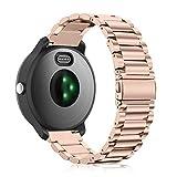 Fintie Correa Compatible con Huawei Watch GT 2 42mm Sport/Classic/Elegant - Pulsera de Repuesto de Acero Inoxidable Banda Ajustable de Metal, Oro Rosa